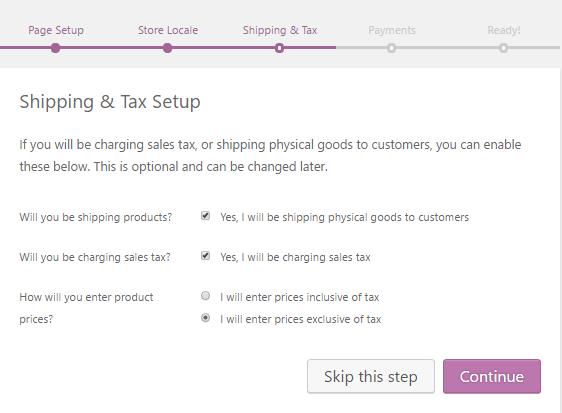 woocommerce shipping tax setup